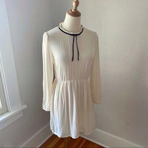 Forever 21 Cream High Neck Peasant Dress